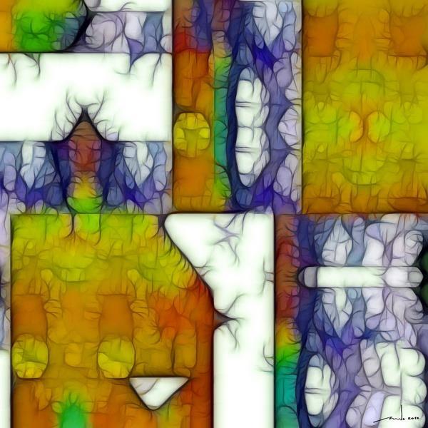 Researching New Card Decks   Digital Artwork over original photo 50 x 50 cm  rcn