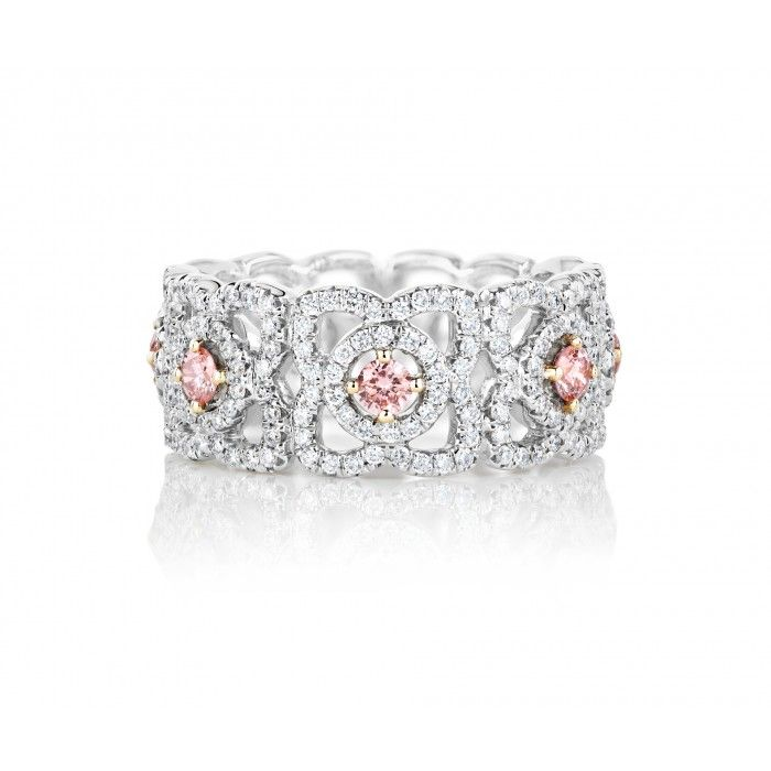 Enchanted Lotus Band with Fancy Pink Centre Diamonds J1FK09Z00Q | De Beers