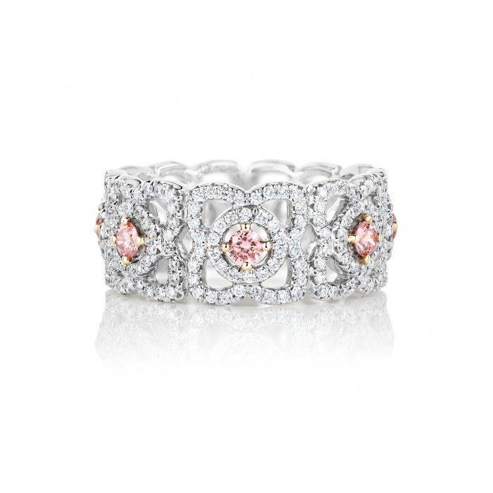 Enchanted Lotus Band with Fancy Pink Centre Diamonds J1FK09Z00Q | De Beers