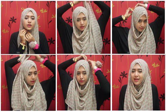 4. Tutorial Hijab Modern 2014