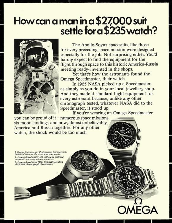 Omega Speedmaster Moonlanding advert