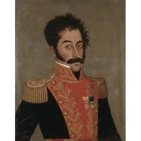 Simon Bolivar Jose Gil de Castro Morales (1780-ca1839Peruvian) Canvas Art - Simon Bolivar (24 x 36)