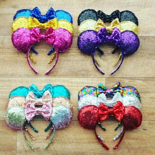 Rose Gold Sequin Disney Ears