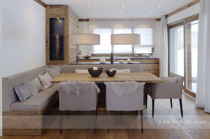 Chalet valbella rustikale esszimmer von go interiors gmbh rustikal
