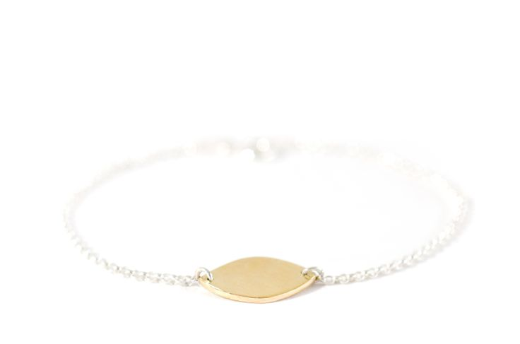 closed drawing bracelet silver and brass