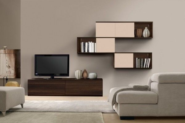 Modern Living Room Wall Units With Storage Inspiration