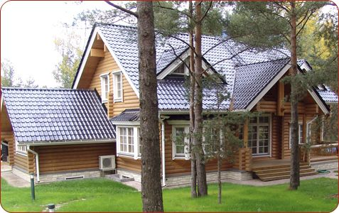 MONIER roof tiles offer aesthetics and functionality in a Russian woodland setting