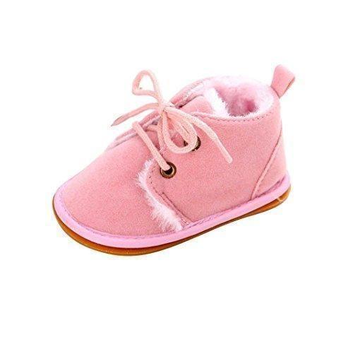 Oferta: 5.99€. Comprar Ofertas de Malloom Bebé niño infantil nieve Botas zapatos suela de goma cuna Prewalker (12cm ( 6-12 meses ), Rosa) barato. ¡Mira las ofertas!