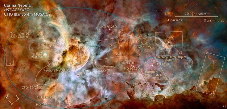 Ngc3372-Nebulosa Eta Carinae-Mappatura