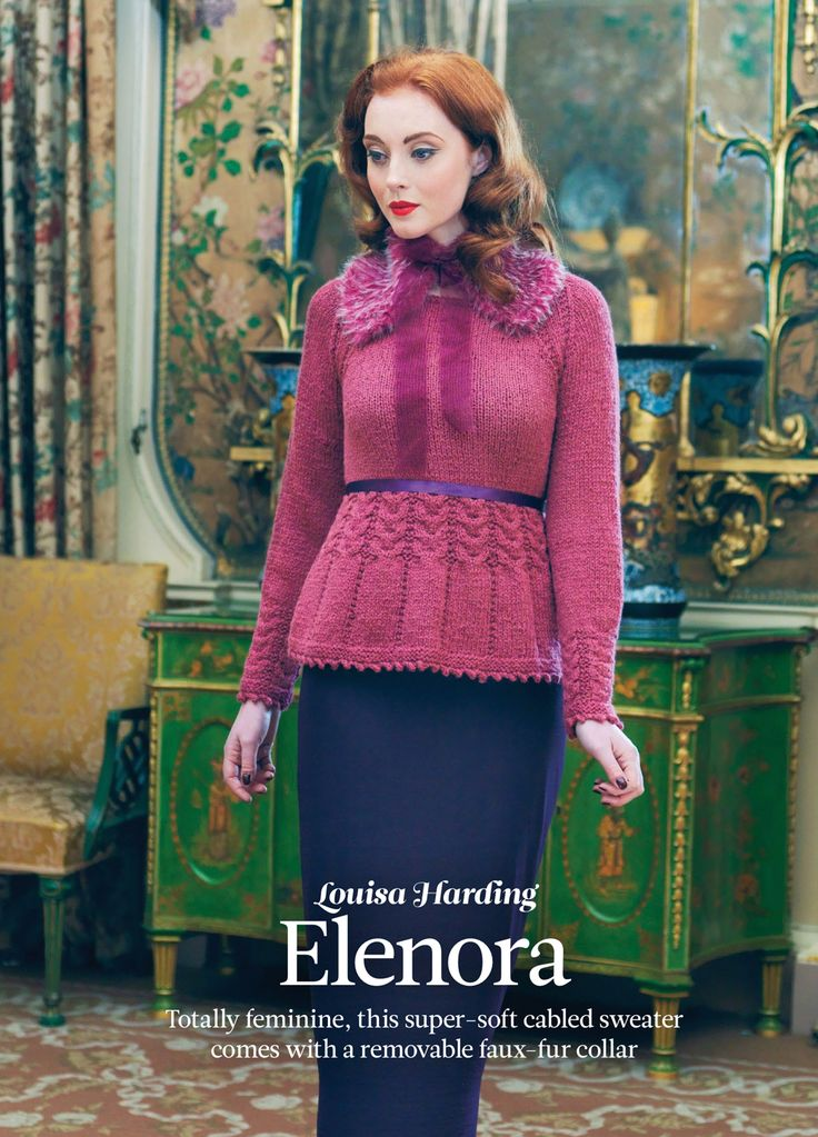Eleonora by Louisa Harding. Read more about it on my blog: http://knittingkonrad.com/2014/09/16/the-knitter-issue-76-a-review/