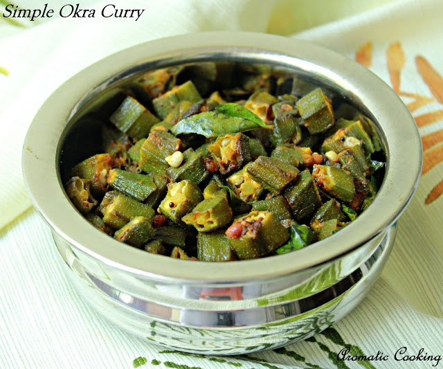 Aromatic Cooking: Simple Okra Curry | Main- Asian | Pinterest