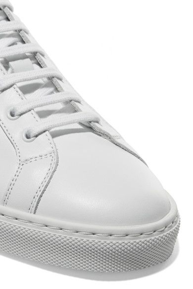 Common Projects - Retro Metallic-paneled Leather Sneakers - White - IT42