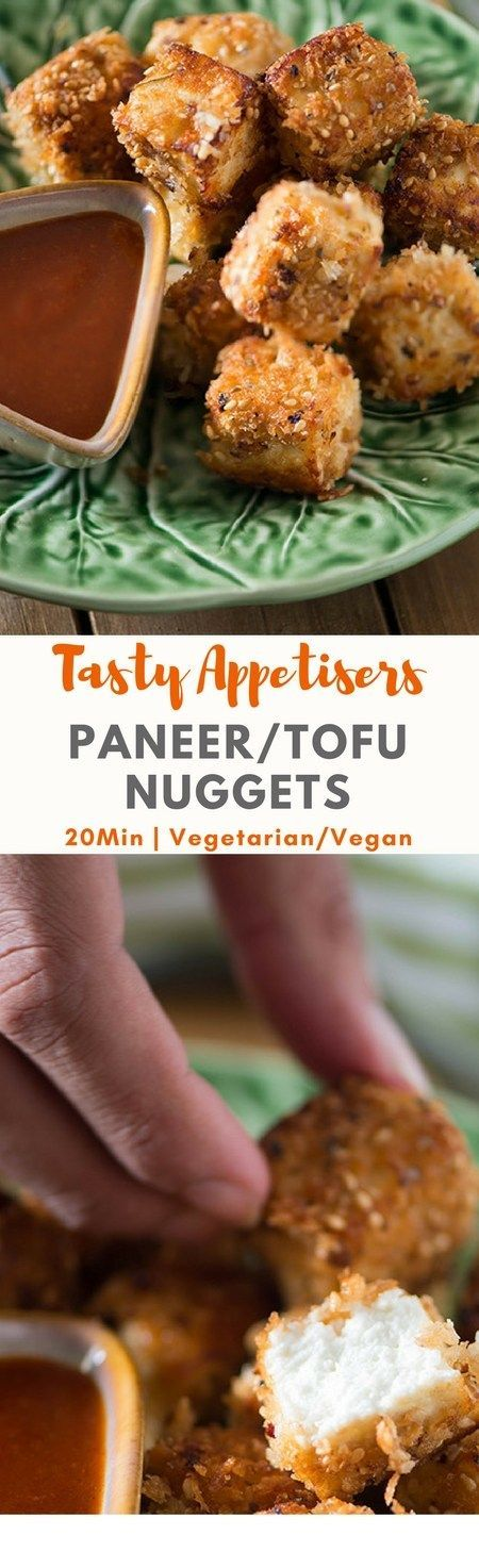 20 Minutes PANEER NUGGETS RECIPE aka Indian cottage cheese nuggets.Incredibly easy recipe, healthy, low carb and vegan version substitutions are given. #LowCarb #Vegan #20Minutes  Recipe via @rekhaKakkar