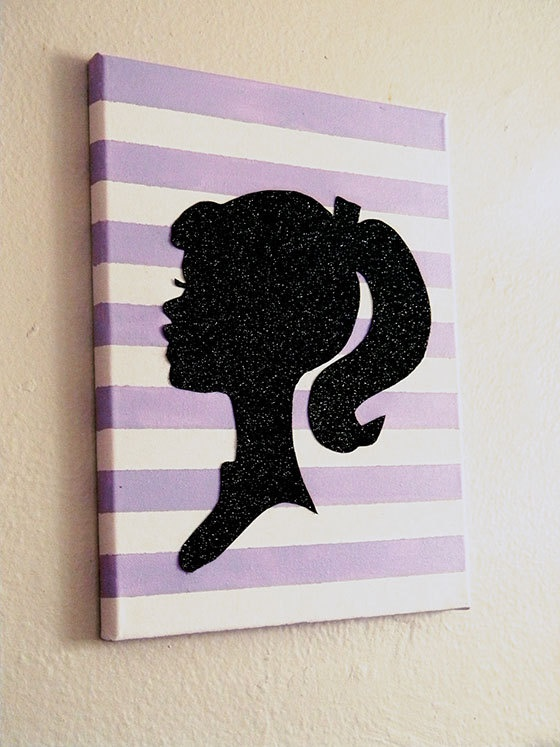 Made to order Purple Striped Glitter Barbie by golightlyyy on Etsy, $47.00