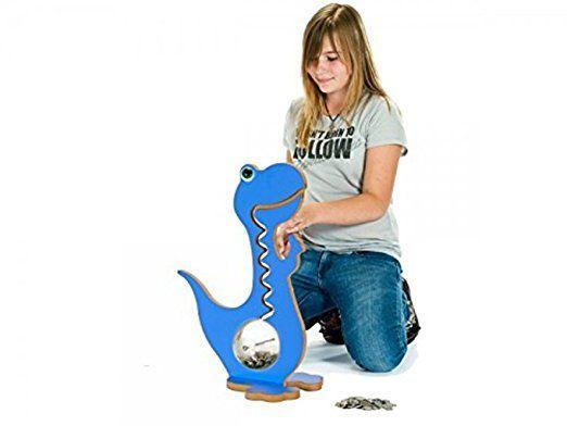 Dinosaur Piggy Bank - Money Box - Kids Money Box - Kids Piggy Bank - Dinosaur - Vibrant colour (57 cm, Blue): Amazon.co.uk: Kitchen & Home