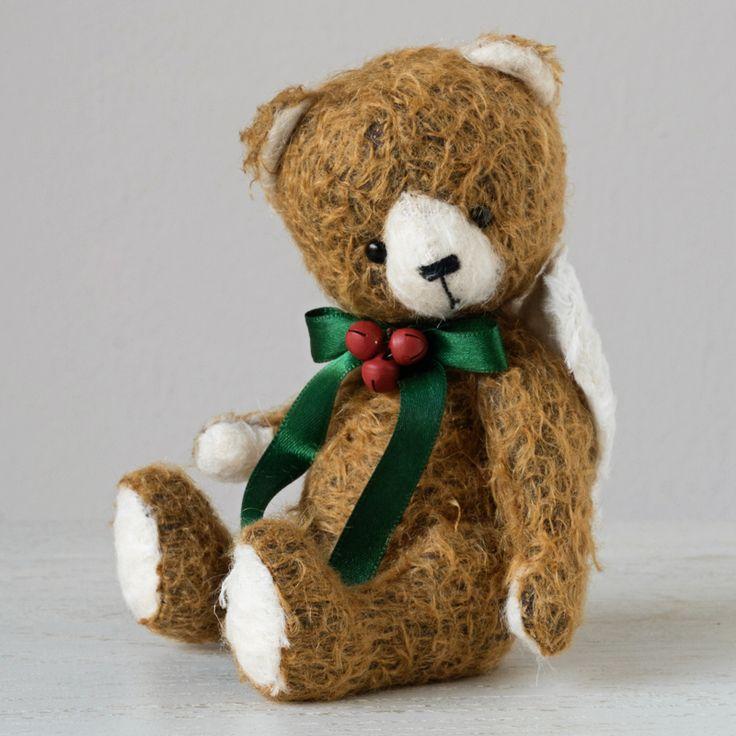 CHRISTMAS ANGEL by Marina Dorogush #art#artist#ooak#vintage #vintagestyle #teddy #bear#teddybear # artteddybears #marinadorogush #christmas #christmastime #christmasgifts