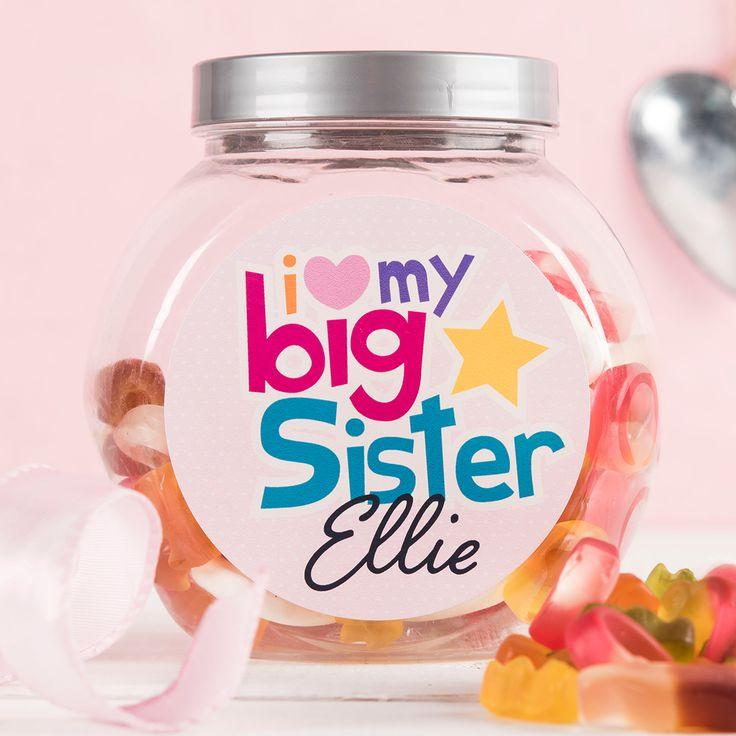 Personalised Haribo Sweet Jar - Big Sister | GettingPersonal.co.uk