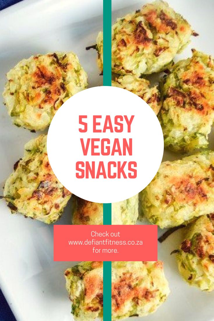 Simple vegan snacks | 5-ingredient snacks | Vegan snacks