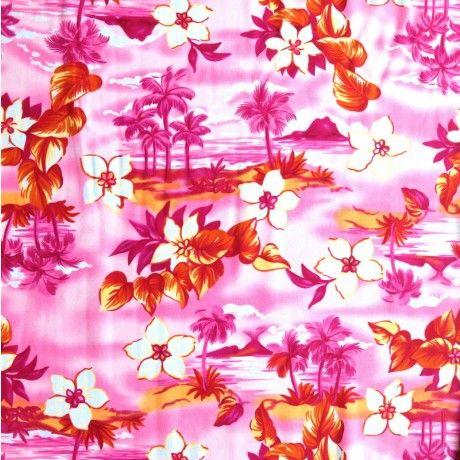 The Fabric Fairy Pink Paradise Nylon Spandex Swimsuit Fabric
