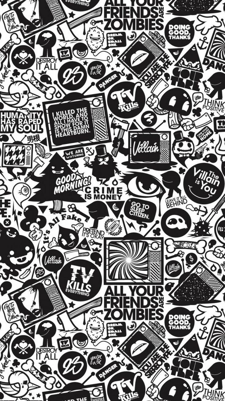Wallpaper iphone art hd - For Geeks Art Tv Black White Iphone 6 Wallpaperiphone Backgroundscartoon Wallpaperhd