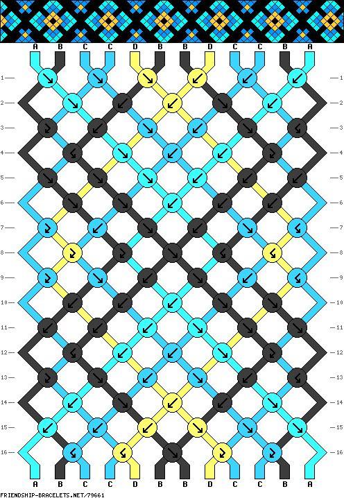 Muster # 79661, Streicher: 12 Zeilen: 16 Farben: 4