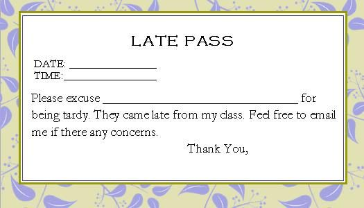 late passes this is a cute template for you to write a fast and