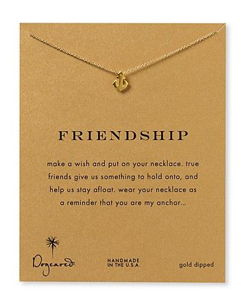 """Dogeared Friendship Anchor Necklace, 18"""" - Necklaces - Jewelry - Jewelry & Accessories - Bloomingdale's    Thinking of you guys - @Kasey Booker Ainsley @Amy Paul @Elizabeth Vaughan"""