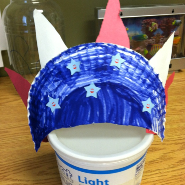 4th of July paper plate hat & 20 best Red White and Blue Parade images on Pinterest | July crafts ...