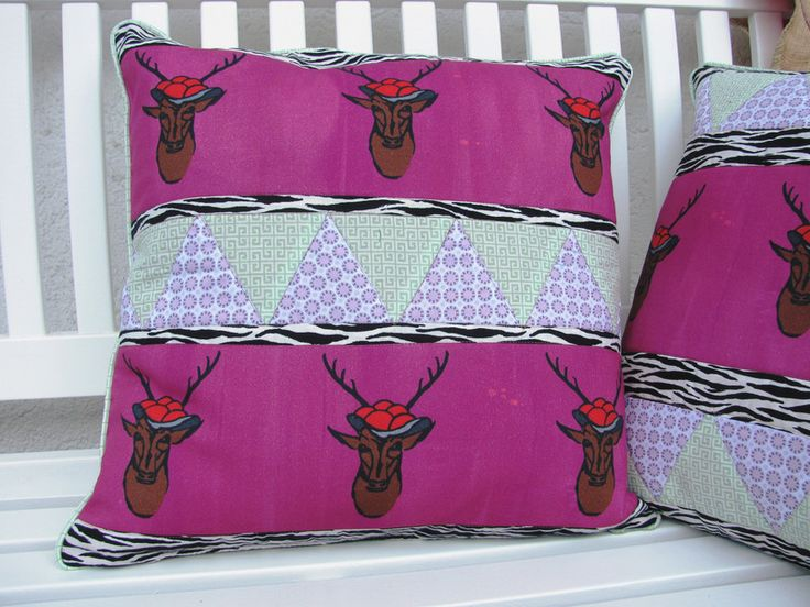Kissenbezüge - Kissenhülle Schwarzwaldsafari 1 50x50 - ein Designerstück von zuse bei DaWanda