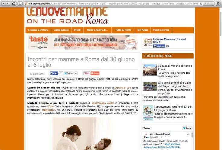 """#Pcare su """"Le nuove mamme on the Road"""" http://www.pcare.it/dicono-di-noi/il-linfodrenaggio-vodder-su-le-nuove-mamme-on-the-road"""