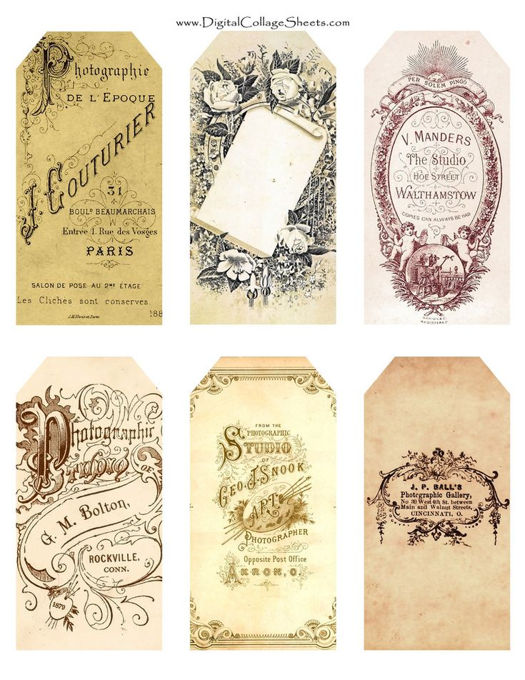 Free Printable Vintage Gift tags or Decor