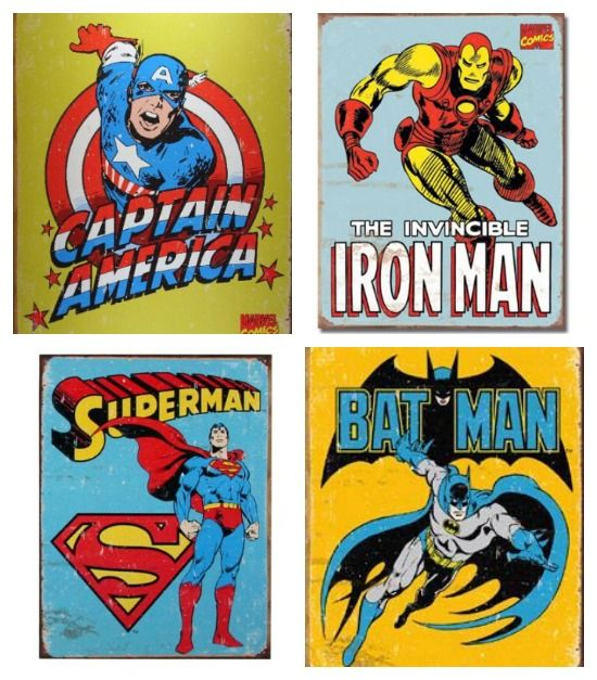 retro superhero stuff • Artchoo.com