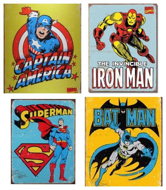 retro superheroes - Google Search