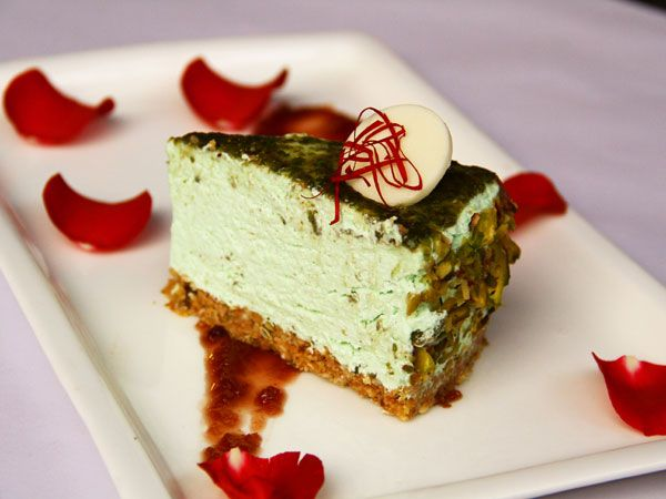 Paan Cheese Cake with Gulkand Sauce     For cheese cake base  50 gm Mukhwas  600gm Biscuit Vita Marie 200gm Yellow butter  Method 1) Crush the biscuit and mukhwas 2) Add melted butter and mix it 3) Take a mould, set the biscuit base (2mm thickened) on the base of the…