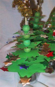 Kerstboom, met kralen maar ik denk dat het ook met rietjes lukt!
