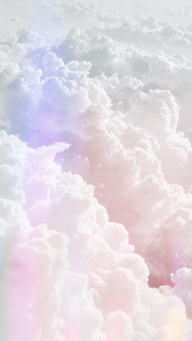 Pastel Clouds Pretty Wallpapers Iphone Color Powder Unicorn Iridescent Imagination Rainbow Backgrounds