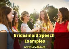 Check out our thoughtful Bridesmaid speech examples. We have put together great samples you can use when writing your own special speech.