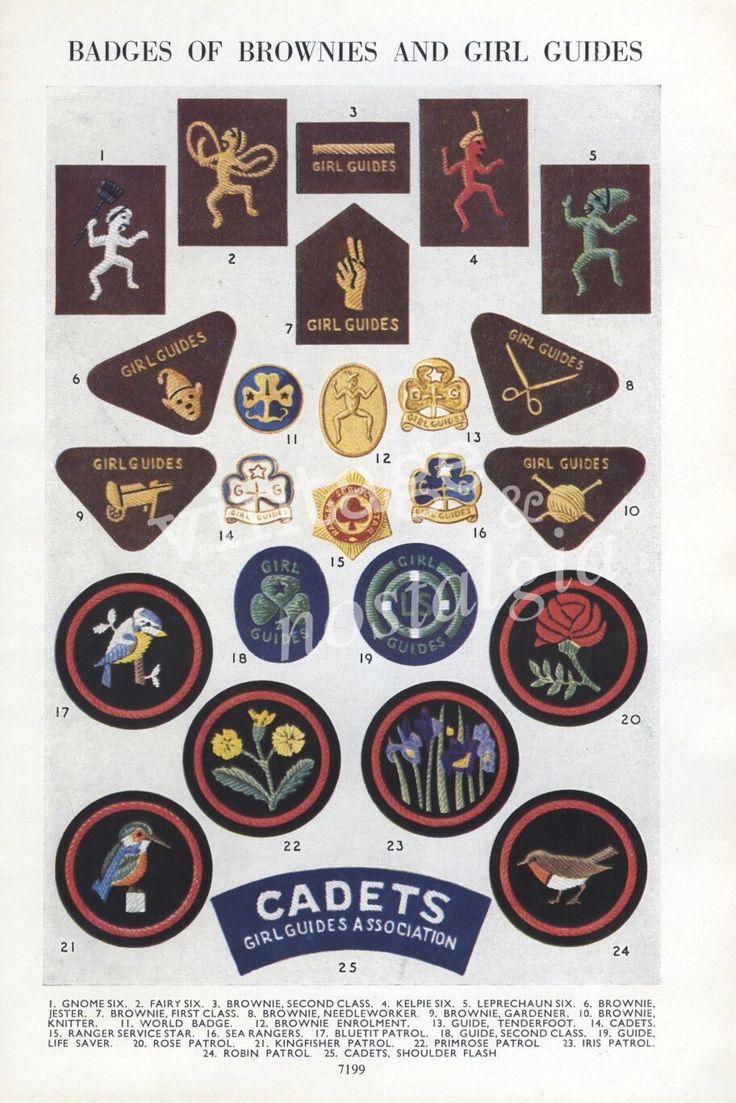Police cap badges ga rel hat badges page 1 garel - 1950s Vintage Brownie Girl Guides Badges Book Plate Girl Bedroom Decor 9 95