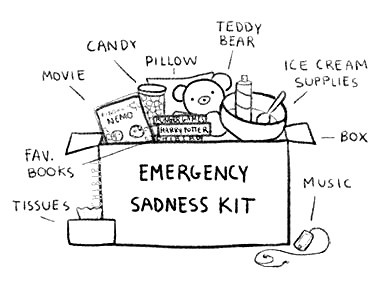 What's in your Emergency bad day Kit? Sickness, bad day at school or just to say,'' I love you and care.''
