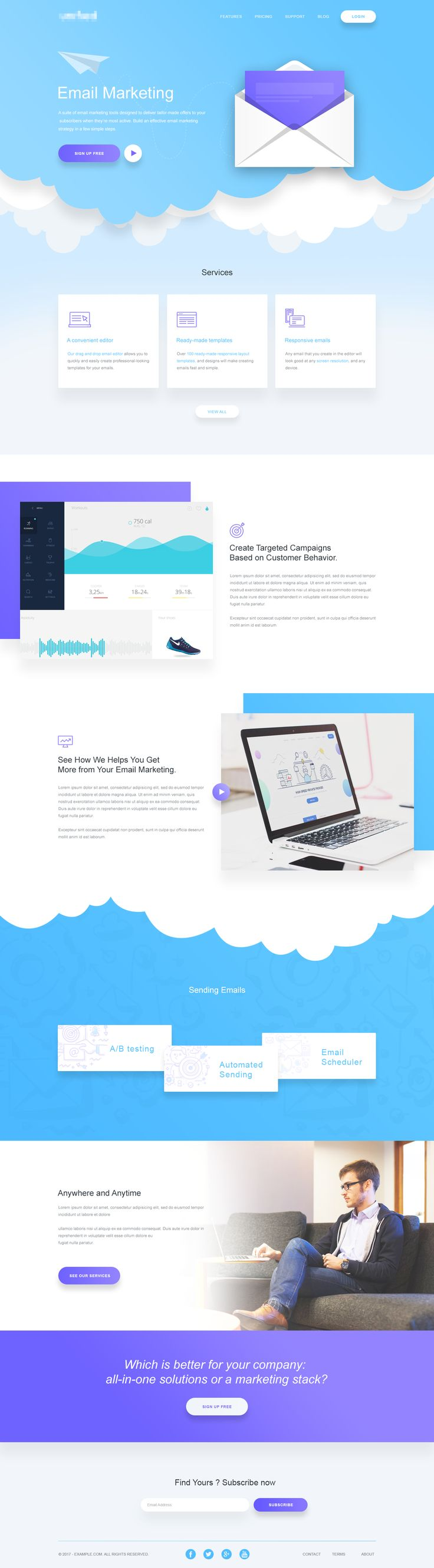 Dribbble - email_marketing_landing_page.png by Rono
