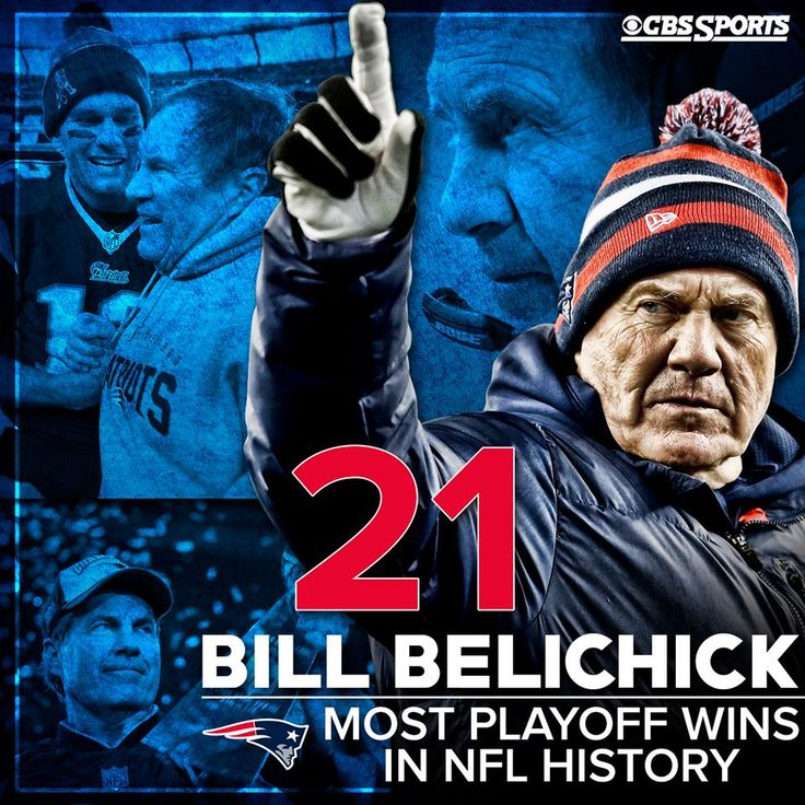 New England Patriots coach Bill Belichick stands alone as the winningest coach in NFL playoff history.