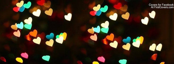 Hearts, sparkle, colorful facebook cover photo, fb