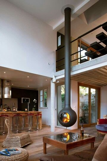 Hanging fireplace, work of brilliance
