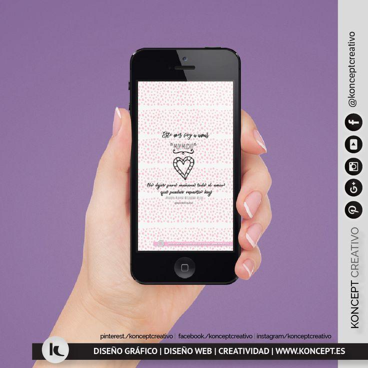 Os recordamos que en nuestro blog tenéis disponible unos fondos de pantalla para smartphone, tablet o pc dedicados amar muy mucho, porque si hay que poner de moda el amor ¡hoy puede ser el comienzo!. Ámate y quiérete haz reflejo de ello llévalo puesto todo el día y luego compártelo con los demás. #happyvalentinesday #felizsanvalentin #love #amor #wallpaper #14febrero #fondosdepantalla #mimatemucho #pongamosdemodaelamor #konceptcreativo #locazosdeldiseño #diseñografico #barcelona #ideas…