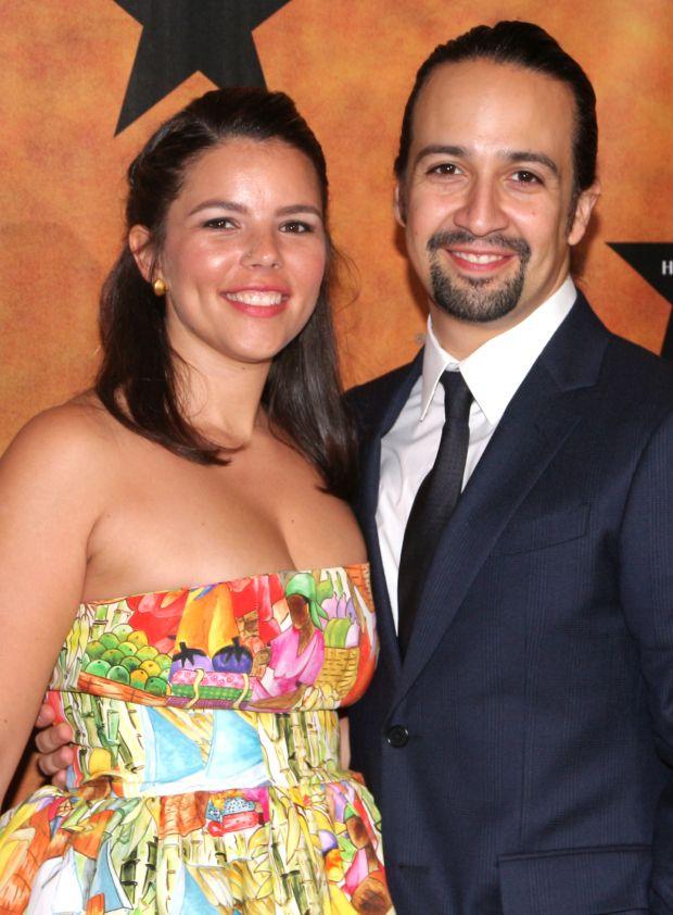 Lin-Manuel Miranda and his beautiful wife Vanessa Nadal.