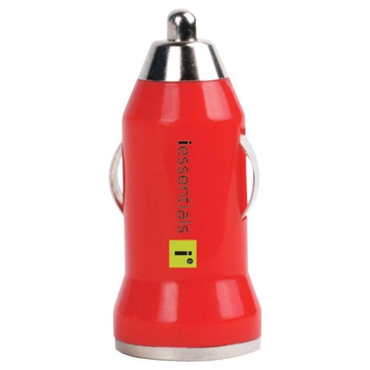 Iessentials Iphone And Ipod And Smartphone Usb Car Charger (red)
