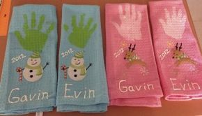 We do handprint towels every year for the grandparents!