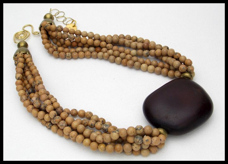 AFRICAN EBONY - African Ebony Tree Seed - Earthy 6 Strand Jasper Necklace - Etsy Exclusive by sandrawebsterjewelry on Etsy https://www.etsy.com/listing/247198113/african-ebony-african-ebony-tree-seed