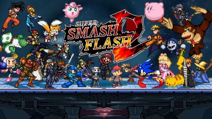 Super Smash Flash 2 Mario Games  A battle game featuring 37 epic characters:, Mario, Kirby, Sonic, Mega Man, and much more. Been in constant development since 2011 by talented developers from all over the world that loves the original Super Smash Bros and want to recreate it. Play the full version here and be amazed by the...