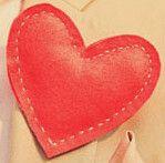 Gemaakt voor een swap Vilten hart corsage, unieke corsage, origineel